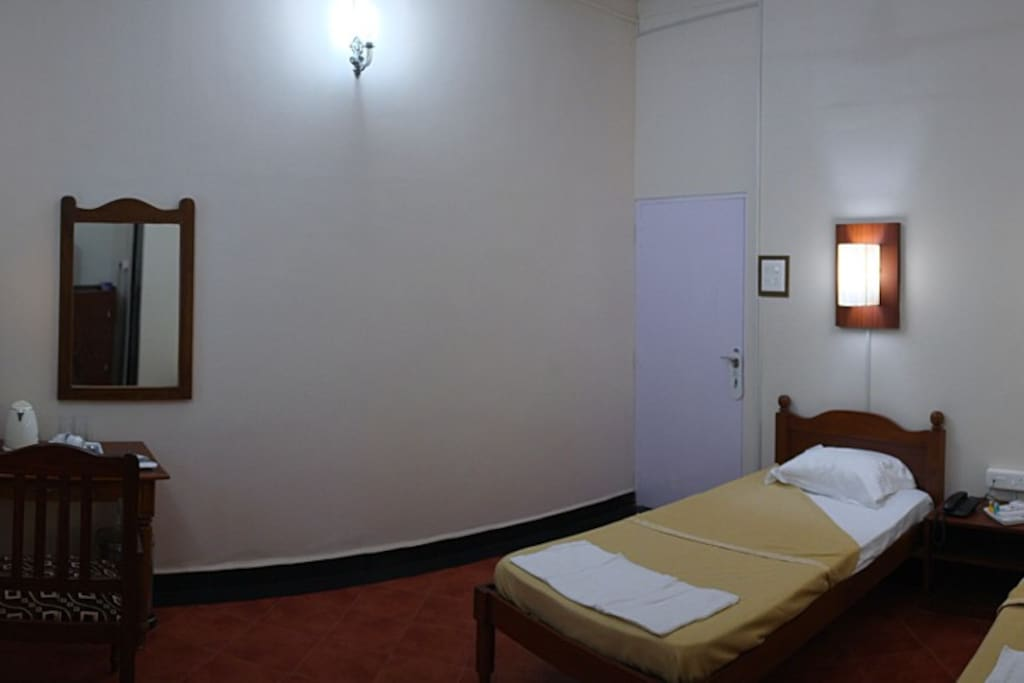 Our Double bedroom with attached bath.