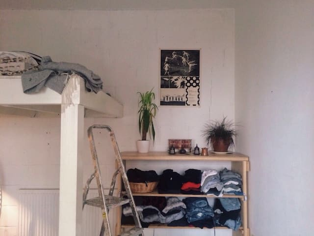 Double room in funky East London warehouse