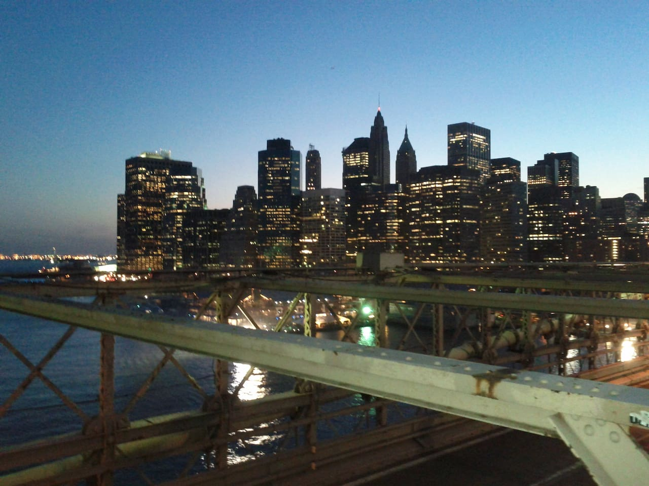 View from the Brooklyn Bridge, less than a mile away