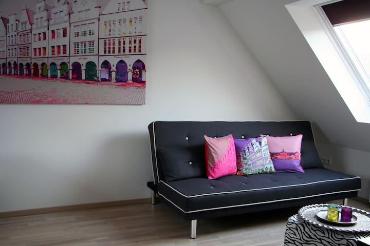 Helle zentrale Wohnung mit Münsterflair