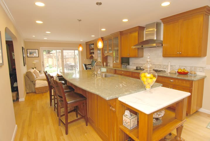 Beautiful 4BR Home by Stanford Univ - Atherton - Maison