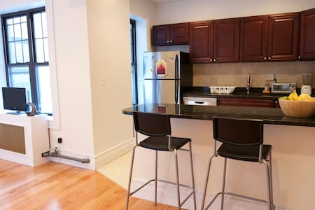Welcome to the beautiful historic neighborhood of Hamilton Heights!  Our quiet, spacious apartment (4 bed, 2 full bath) is located two blocks from a convenient subway stop with 2 express lines that will get you to midtown Manhattan in 20 minutes.