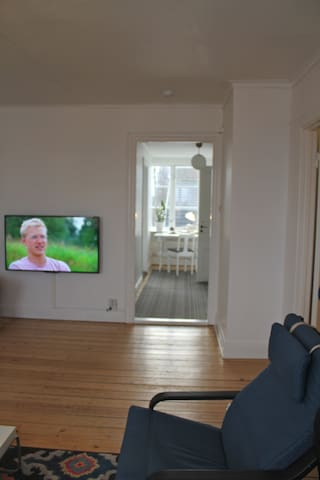 Living room with TV.