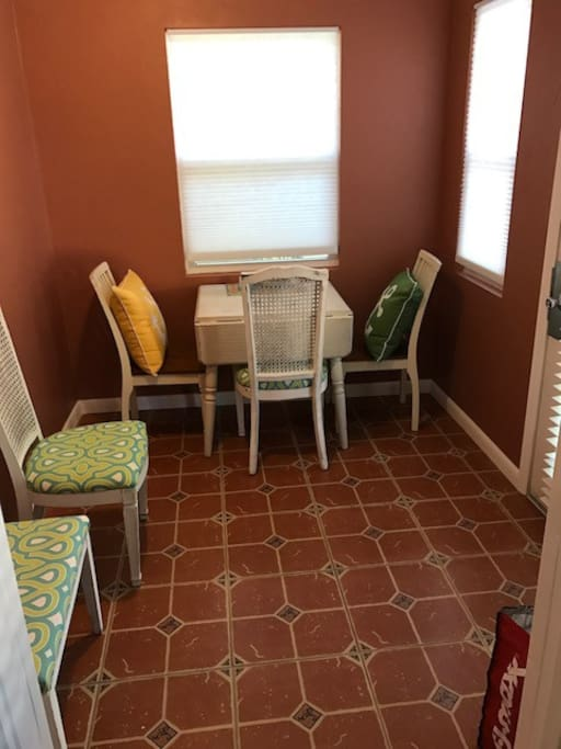 Dinning room Expandable table seats 4.