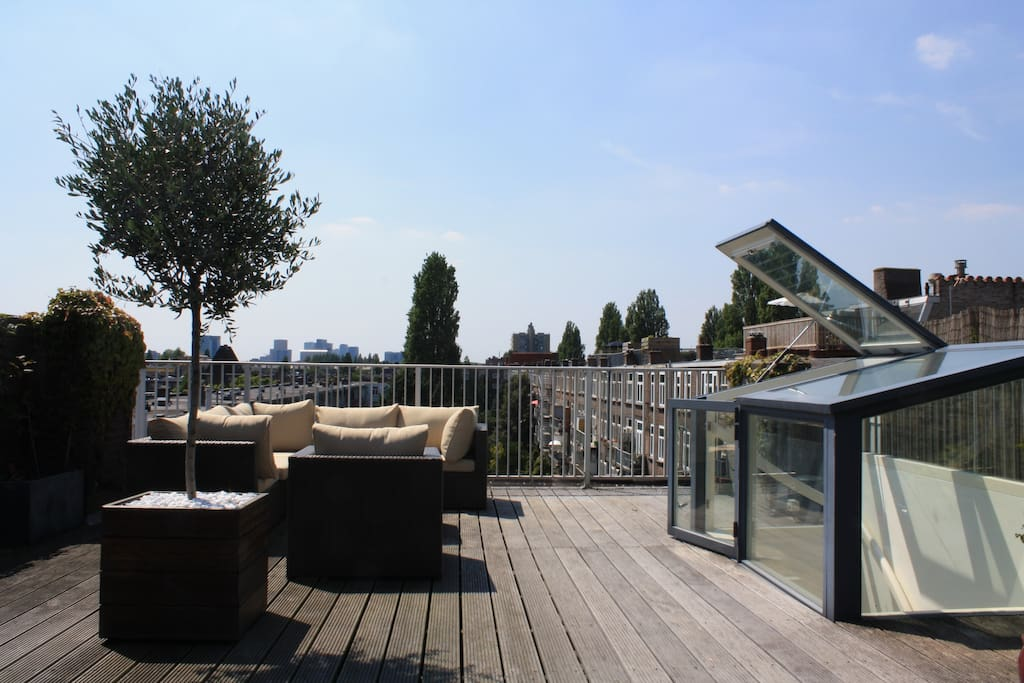 Our spacious roof terrace