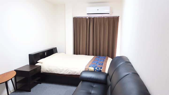 Free wifi double bed for 2 people
