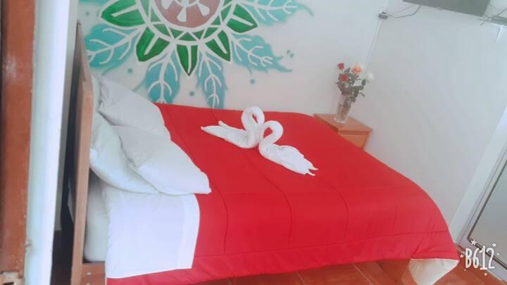 modo hostel  habitacion matrimonial baño privado