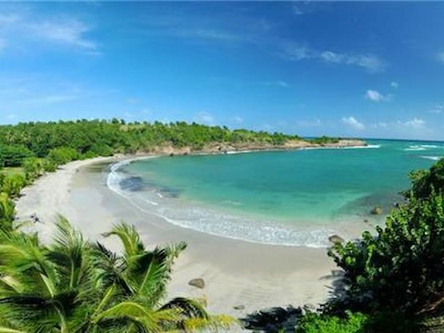 Cabier's natural beach, safe for swimming and snorkelling