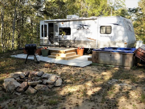 Glamping in a Camper on an organic farm!