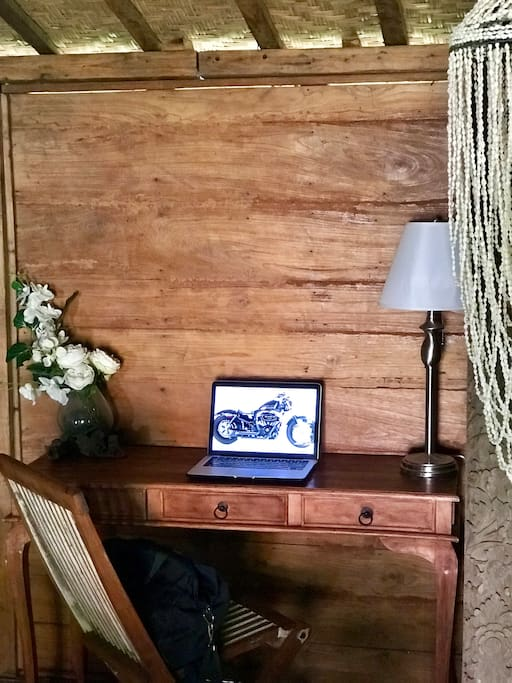 Laptop friendly working space