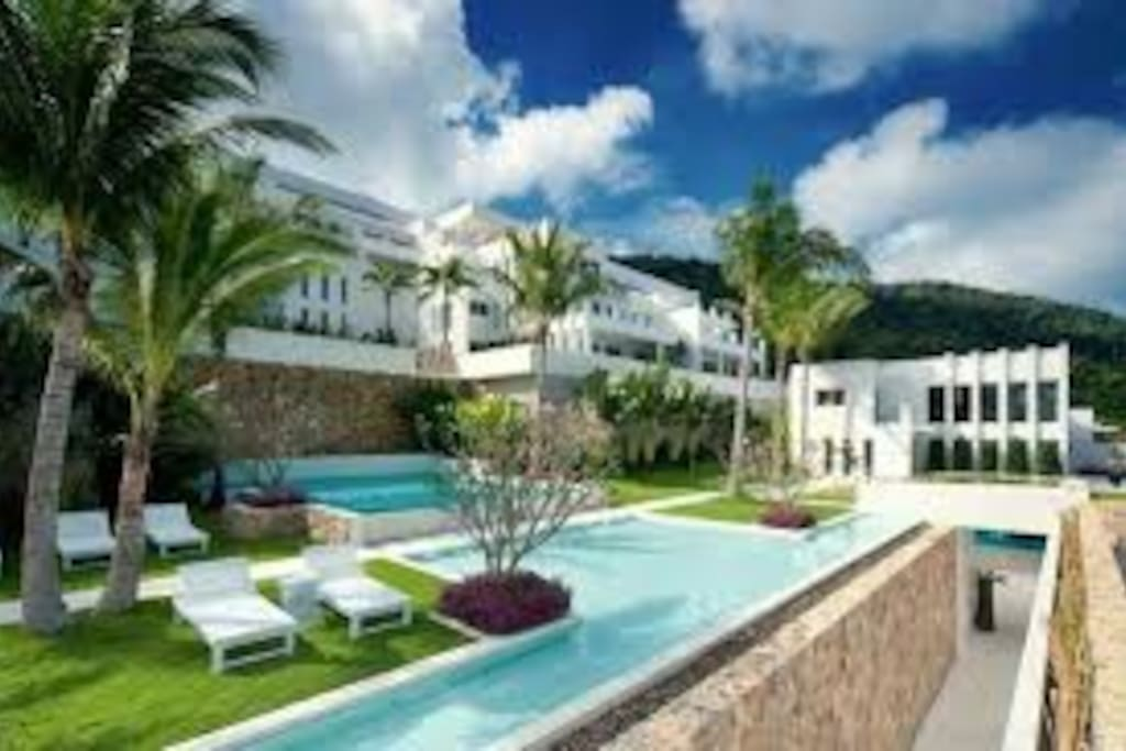 Resort views, villa is part of this resort, many pools to use