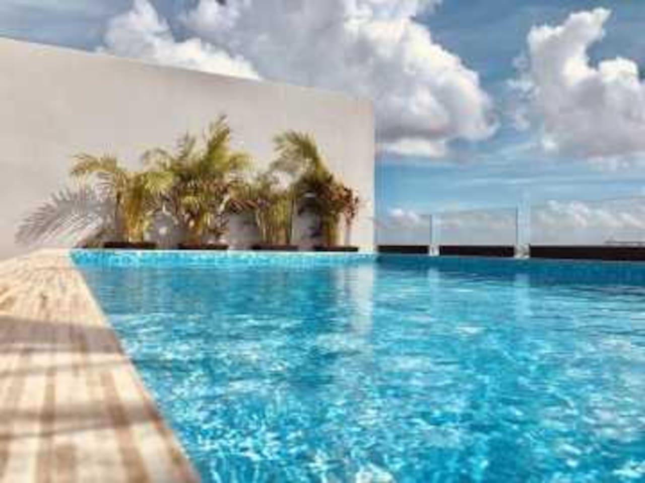 New Luxury Beach Condo 2 BD/2Bth Steps from Beach PDC safari 201 - a SkyRun Riviera Maya Property - outdoor pool