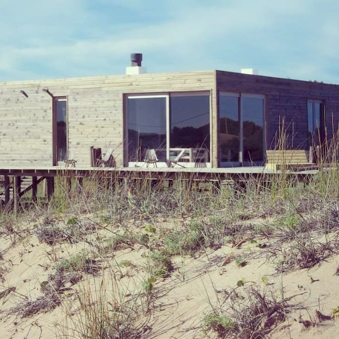the house from the dunes