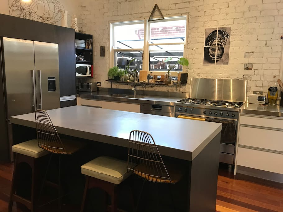 New modern kitchen with all the great appliances .