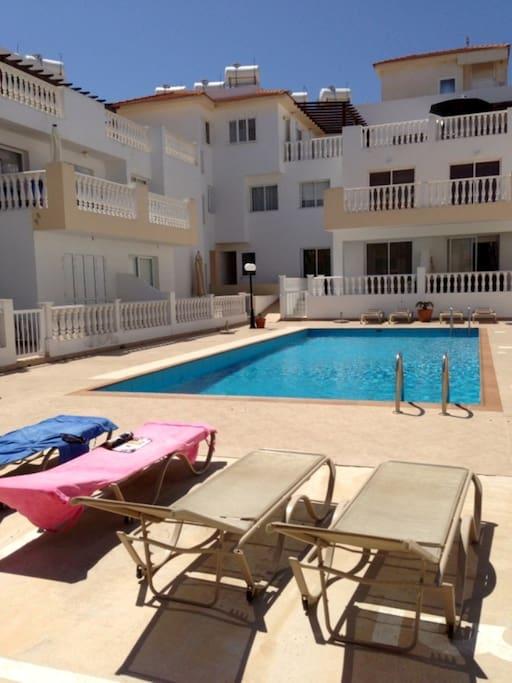 Sun Terrace with sun beds (supplied)