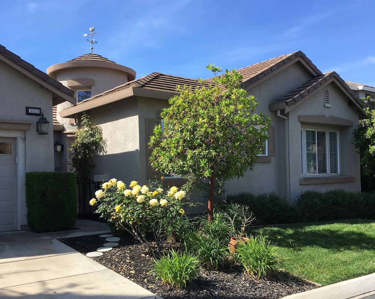 Private home on quiet street, in gated community.