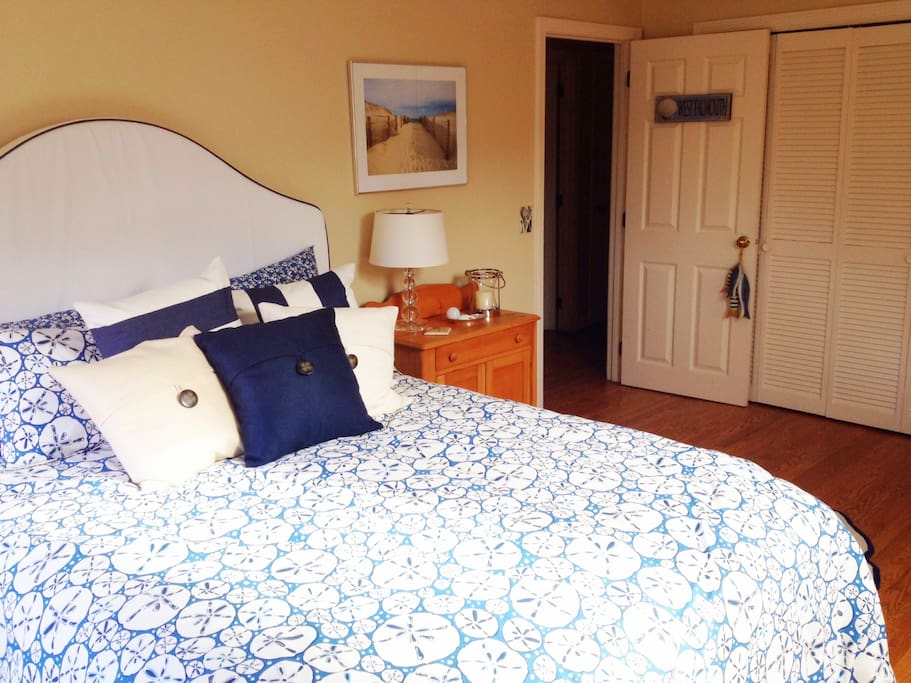 This is your room! Private, queen bedded guest room