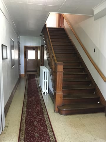 Staircase to the second floor. Unit 4 is on the first floor behind this staircase.