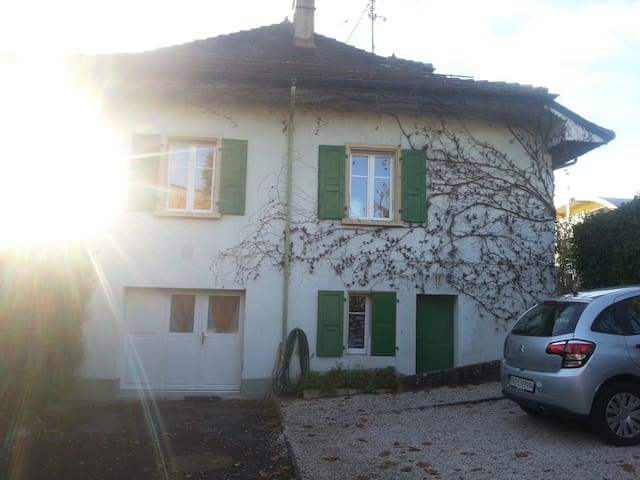 Huge Flat with big garden, central - Rolle - Talo