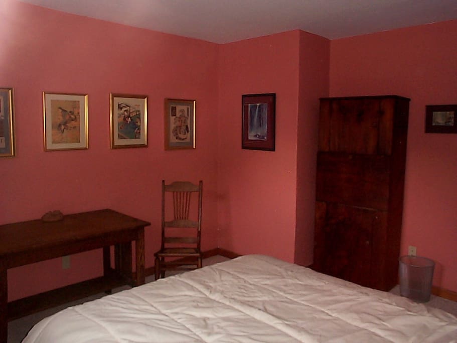 This is our largest room, with mostly Arts & Crafts furniture and Japanese woodblock prints and Chinese watercolors.