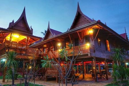 Thai house on river private room