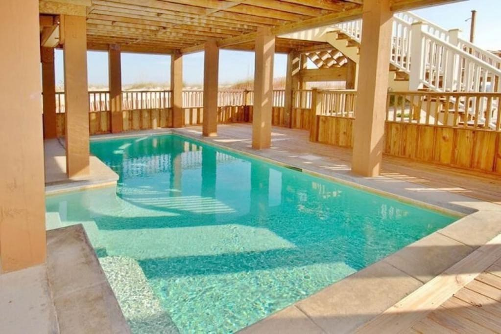 Pool Under the Shade of the Porch