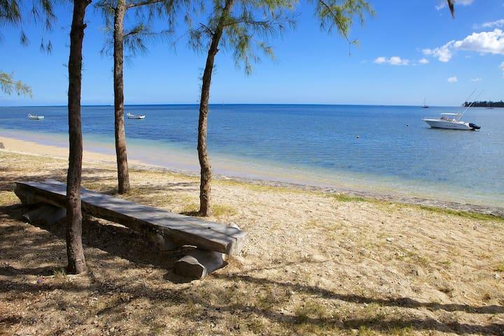 Beachfront villa with private pool - Riviere Noire - วิลล่า