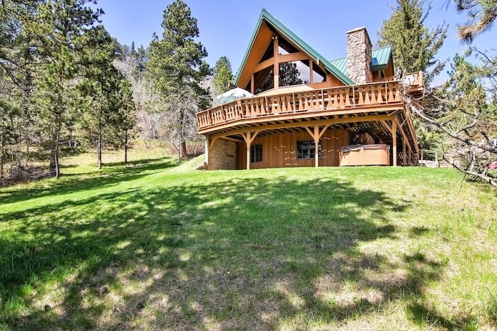 Updated Home w/ Wraparound Deck & Private Hot Tub!