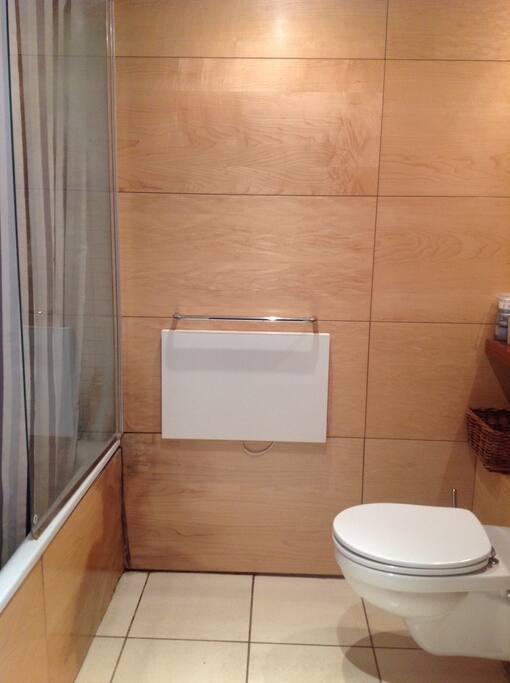 Clean and modern washroom