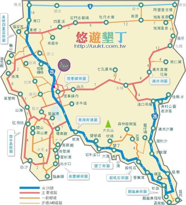 apartment location in Hengchun Peninsula.