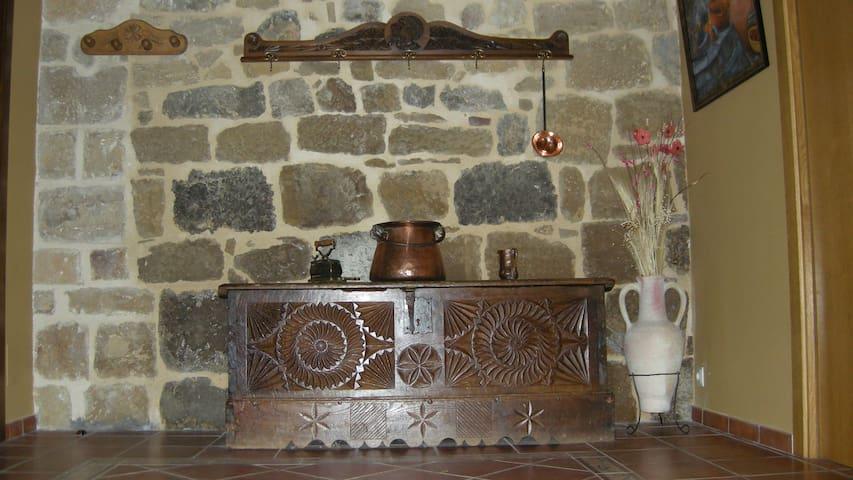 Detalle del recibidor de la Casa Rural La Sacristana