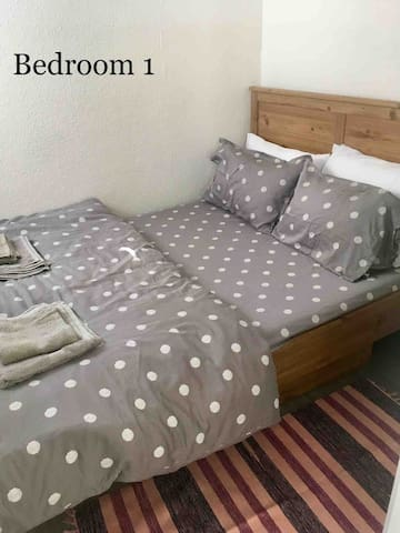 First bedroom, double bed
