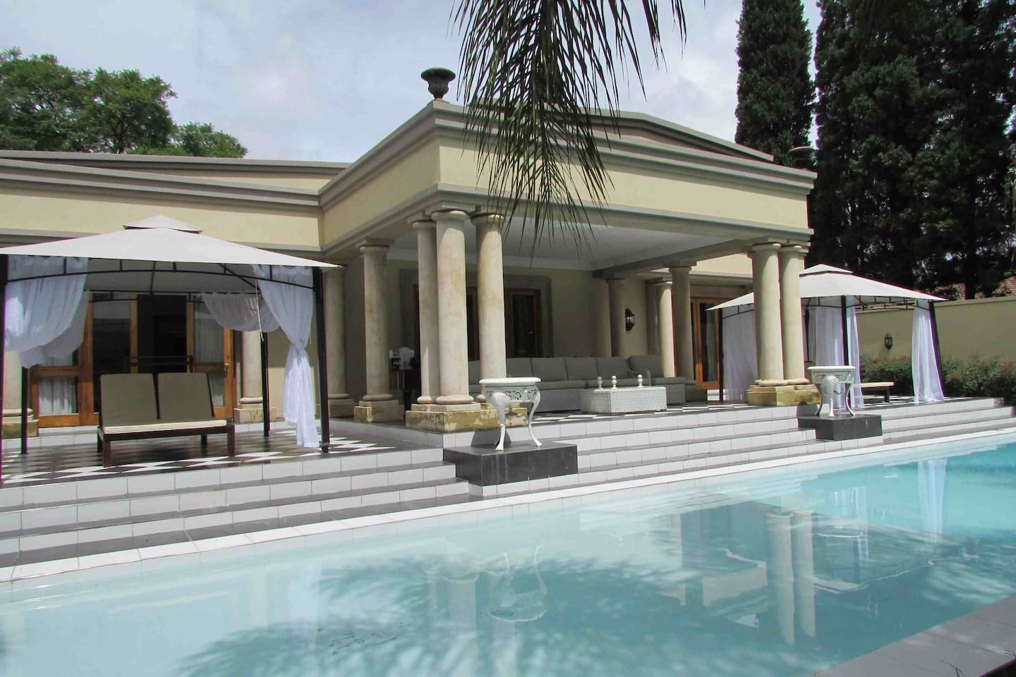 Private pool and gazebos