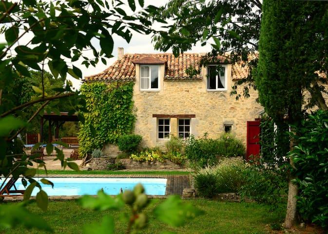 gîte 12 pers. piscine et parc 8 Ha - Saint-Méard-de-Gurçon - 獨棟