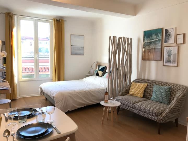 Charmant Studio , coeur de Cannes, Forville