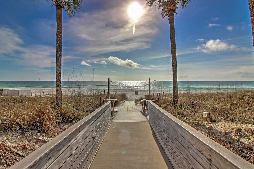 Enjoy access to the beach just steps from the property!
