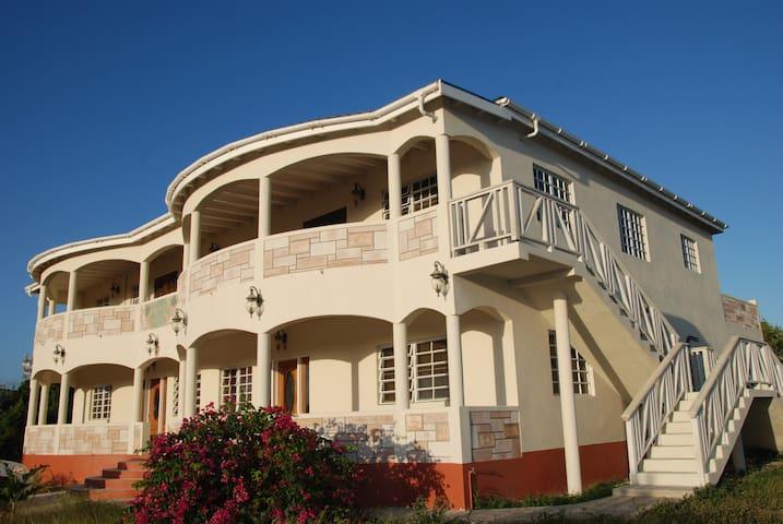 Corner view of Property
