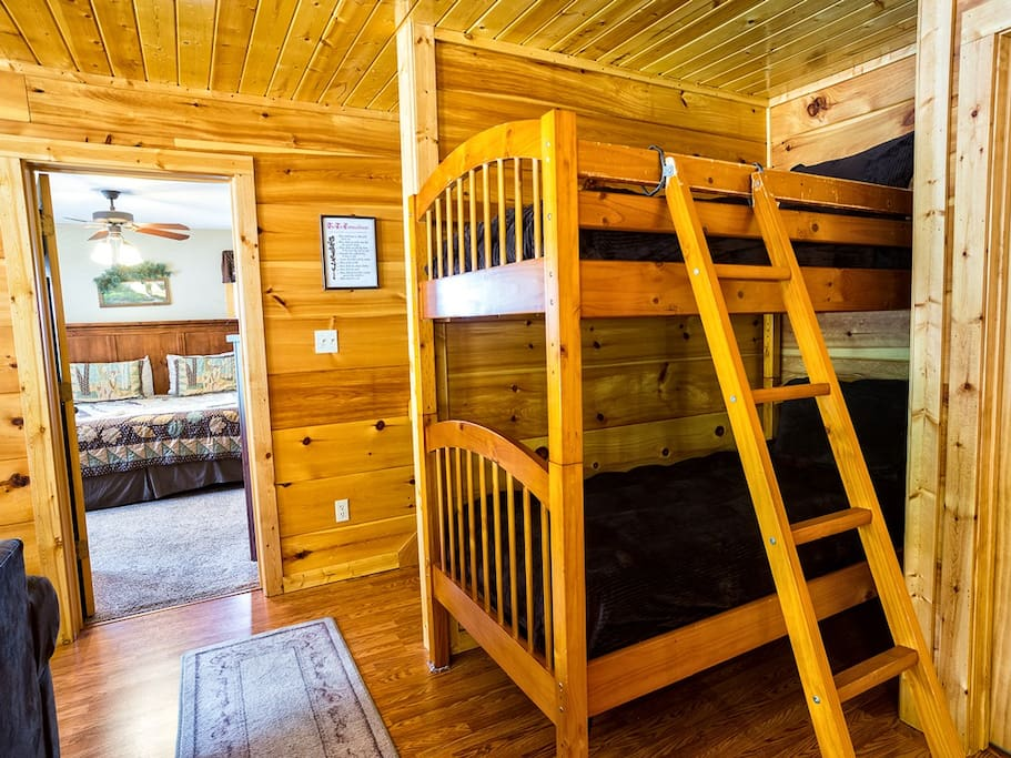 Bunk beds downstairs,