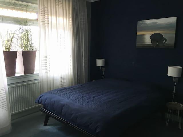 Super comfortable bedroom with private sauna