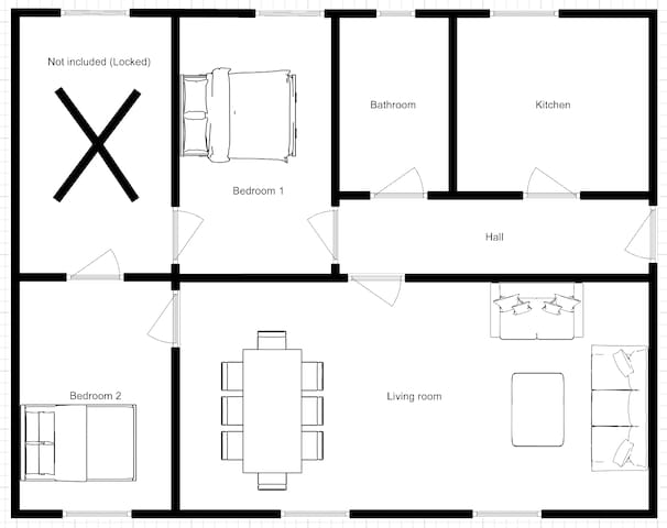 Floor plan of the aparment