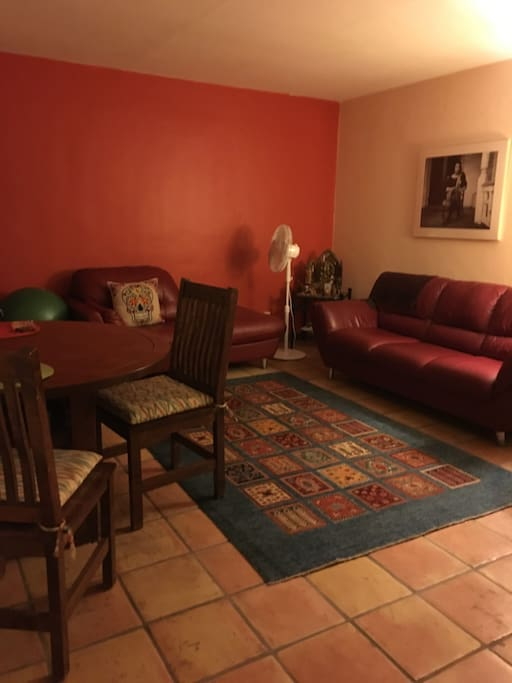 Comfortable furniture, reading areas, bright lights