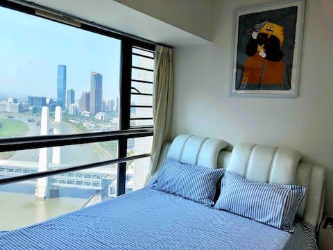 Art Home 艺术公寓 福田/皇岗双口岸/地铁口高端小区/交通便利