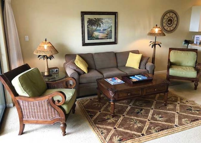 Spacious and relaxing living room with quality furniture.