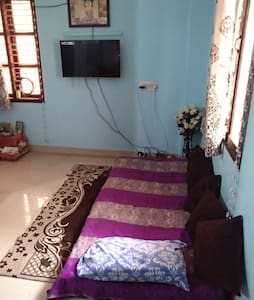Space for an person in the hall of 1bhk appartment