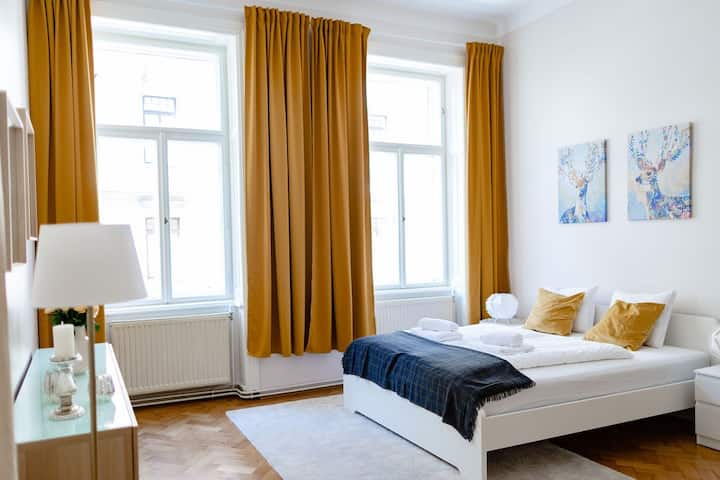 Classic Viennese Room 7 min to city (Top 6/Room 2)