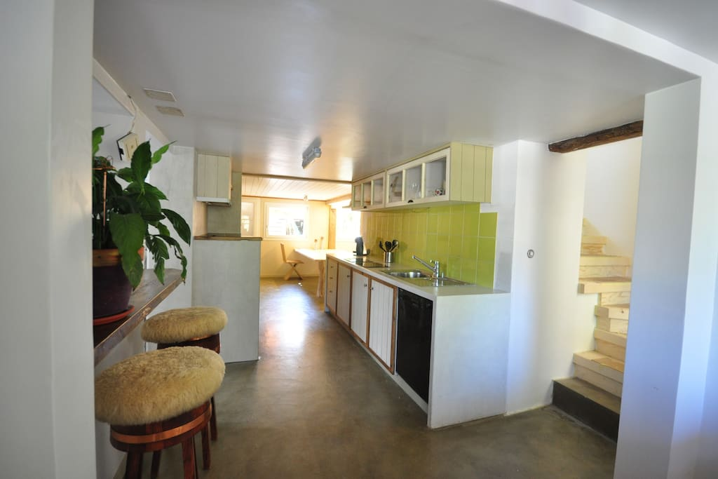 Entrance to apartment on 1st floor. Fully equipped kitchen