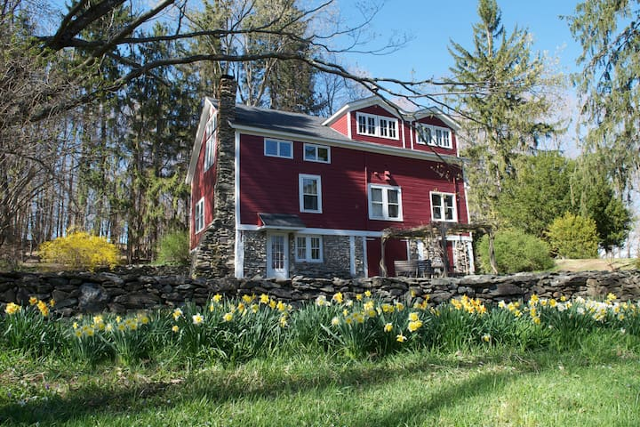 Converted Barn on 5+ Acres. WiFi & Serenity. - Clinton Corners - Casa