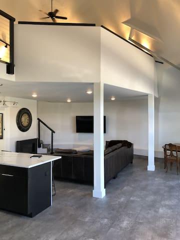 Family Room & Mezzanine Above