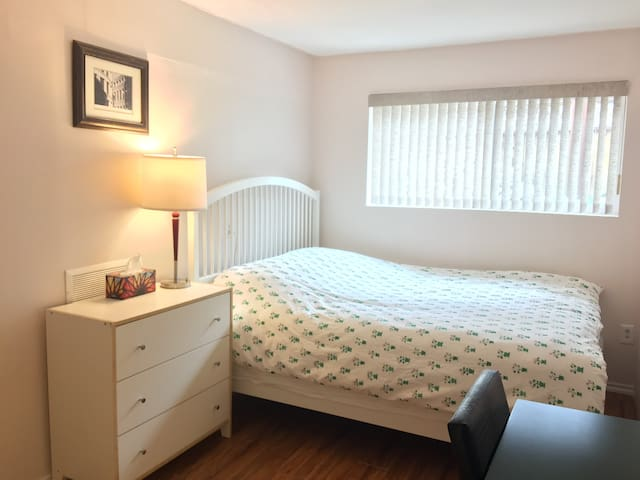 Private bedroom w/ cozy bed, central location