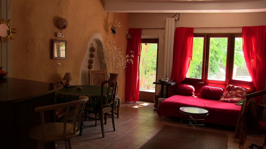 Village house terrace, small garden - Sauve - Apartament